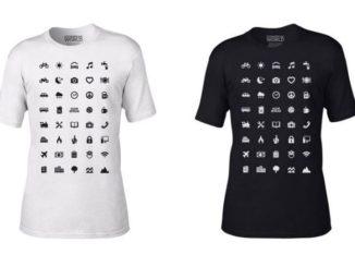 Un invento para viajeros: camiseta con íconos