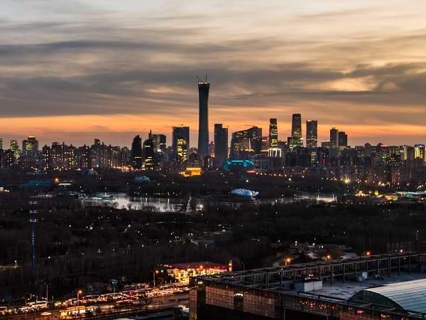 Pekín China - Vista de la ciudad