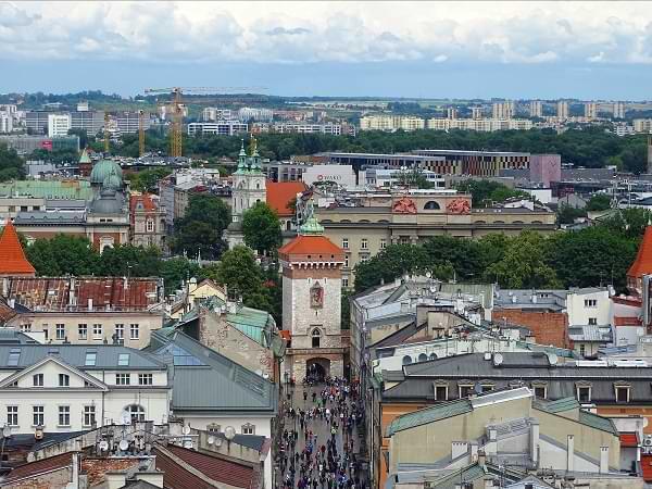 Polonia, Cracovia - Torre de la basílica de Santa María