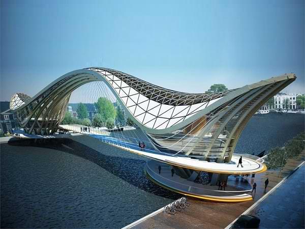 Puente peatonal de Laurent Saint Val en Amsterdam